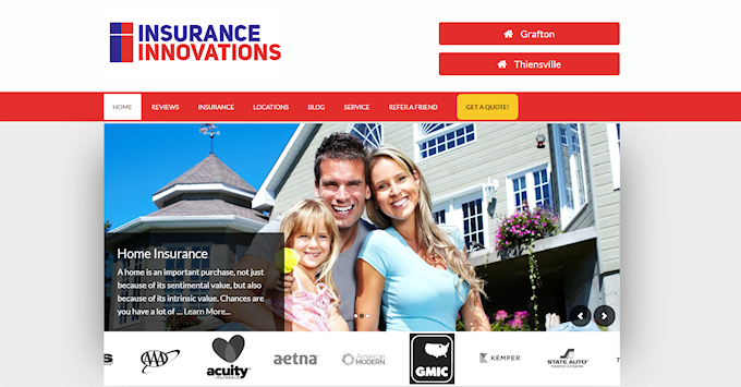 The new Insurance Innovations Website