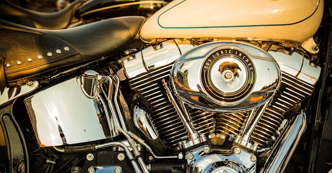 Harley Davidson motorcycle engine